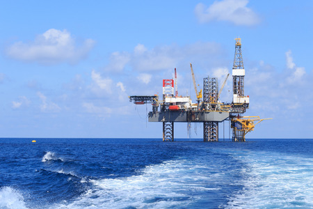 Photo for Offshore jack up in The Middle of The Sea - Royalty Free Image