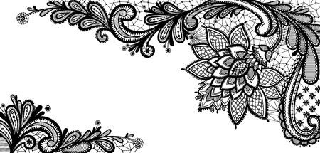 Illustration for Old lace background, ornamental flowers. Floral background. - Royalty Free Image