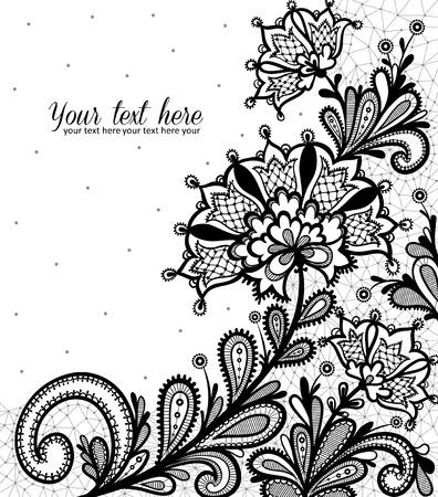 Illustration for Black lace vector design. - Royalty Free Image