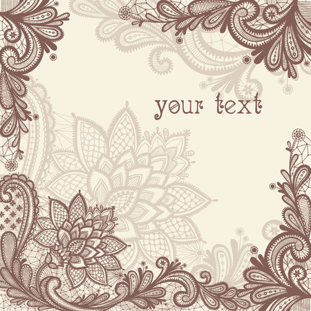 Illustration pour Vintage lace vector design. - image libre de droit
