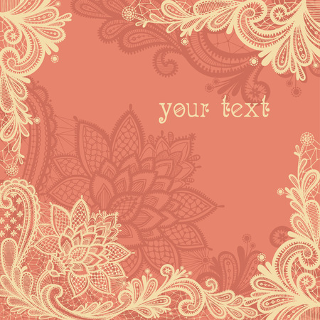 Foto per Wedding design with lace in retro style. - Immagine Royalty Free