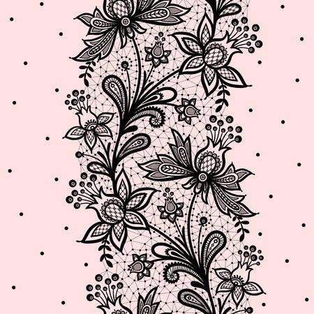 Illustration pour Lace background vector illustration on a pink background. - image libre de droit