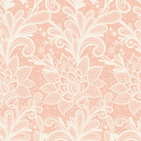 Illustration pour Seamless lace floral pattern. Grunge background with lace ornament. - image libre de droit