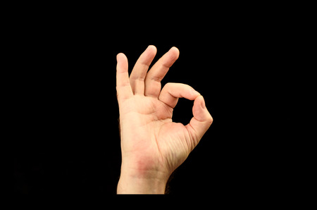 Photo for The hand of the person shows gesture ok or everything is good - Royalty Free Image