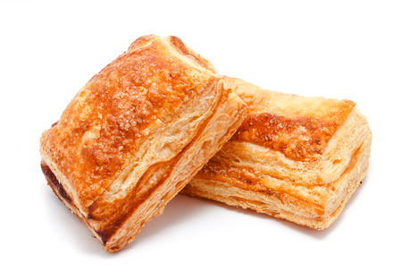 Photo for Fresh puff pastries isolated on a white background - Royalty Free Image