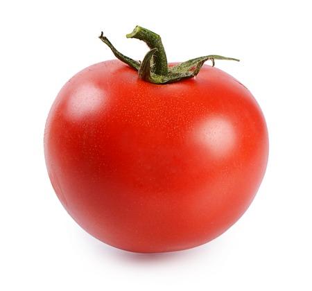 Photo pour Red fresh tomato isolated on white background - image libre de droit