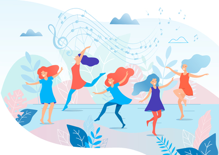 Illustration pour Dancing women vector illustration. - image libre de droit