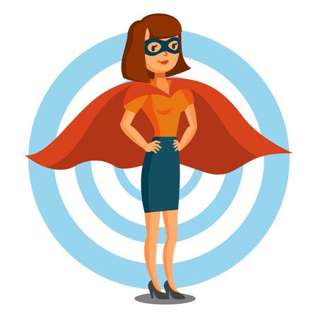 Illustration pour Female superhero - image libre de droit