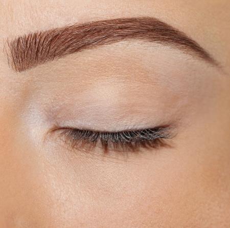 Foto de close up eyes without makeup - Imagen libre de derechos