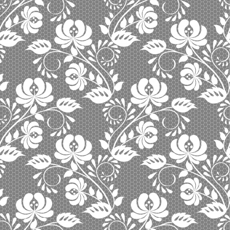 Illustration pour Seamless floral lace pattern - image libre de droit