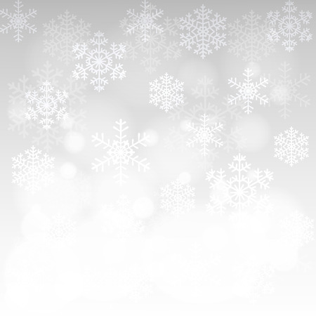 Illustration pour Christmas card with glowing snowflakes and bokeh - image libre de droit