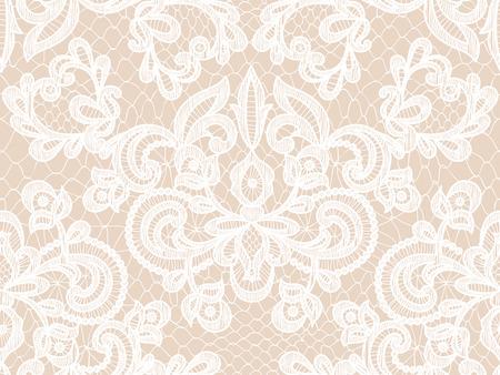 Illustration pour Seamless white lace background with floral pattern - image libre de droit