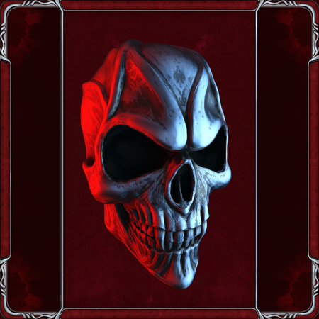 Foto de Evil vampire skull in red - Imagen libre de derechos