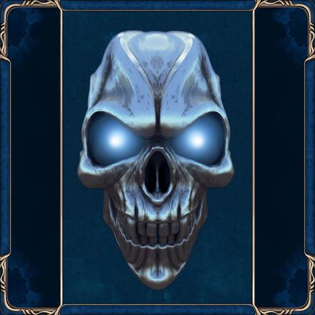 Foto de Skull with glowing blue eyes - Imagen libre de derechos