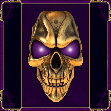 Foto de Skull with glowing purple eyes - Imagen libre de derechos
