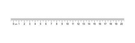 Illustration pour Ruler 20 cm. Measuring tool. Ruler Graduation. Ruler grid 20 and 1 cm. Size indicator units. Metric Centimeter size indicators. Vector EPS10 - image libre de droit
