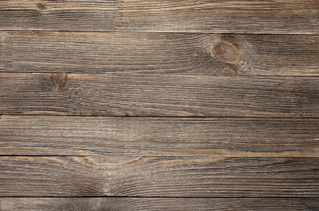 Photo for Natural knotted brown weathered wood plank texture background. - Royalty Free Image