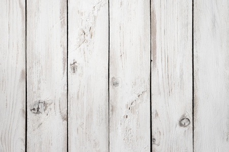 Photo for Vintage weathered shabby white painted wood texture as background. - Royalty Free Image
