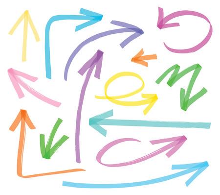 Ilustración de vector highlighter arrows - color can be changed by one click - Imagen libre de derechos