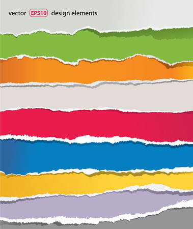 Illustration pour torn paper set - image libre de droit