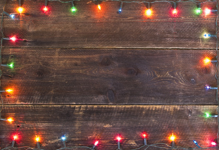 Photo for christmas lights frame background - Royalty Free Image