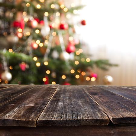 Photo pour christmas table for product montage - image libre de droit