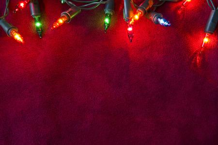 Photo for christmas lights border - Royalty Free Image