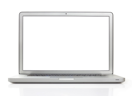 Photo pour Laptop on white  - image libre de droit