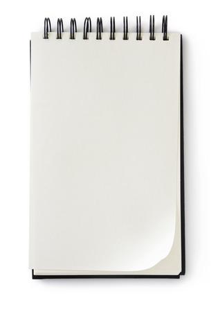 Foto de blank notepad on white - Imagen libre de derechos