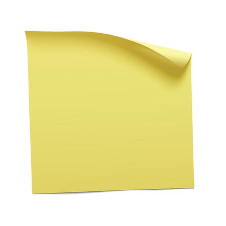 Illustration pour yellow sticky note, vector - image libre de droit