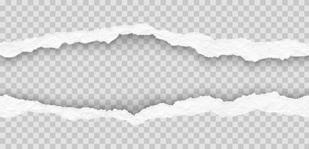 Illustration pour Torn paper edges illustration - image libre de droit