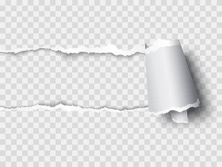 Illustration for Vector ripped paper, layered - Royalty Free Image