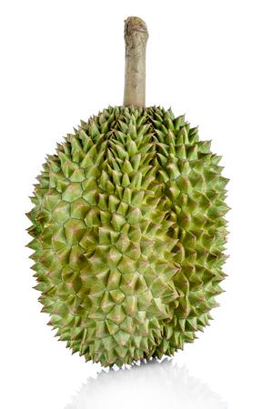 Foto de Close up green durian isolated on white background. - Imagen libre de derechos