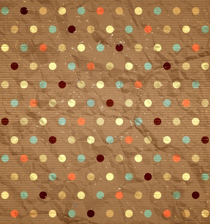 Illustration for Vintage polka dot pattern - Royalty Free Image