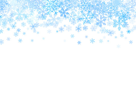 Ilustración de Christmas card with different snowflakes on top - Imagen libre de derechos