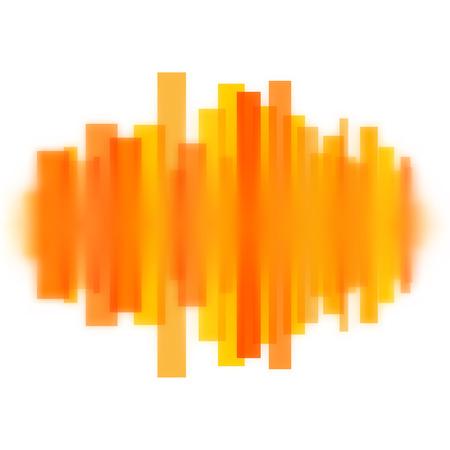 Foto für Blurred vector waveform made of transparent orange lines - Lizenzfreies Bild