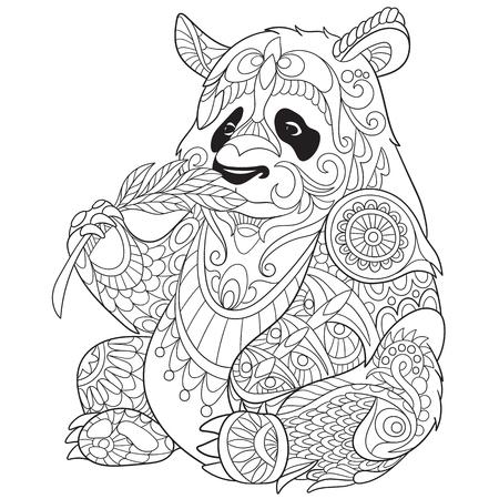 Illustration pour stylized cartoon panda - image libre de droit