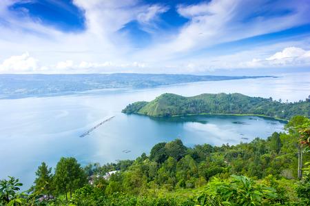 Photo for danau toba lake scenery from highland - Royalty Free Image