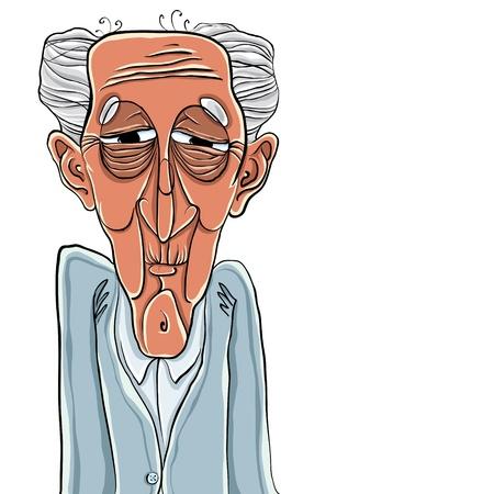 Illustration for Old man cartoon style illustration - Royalty Free Image
