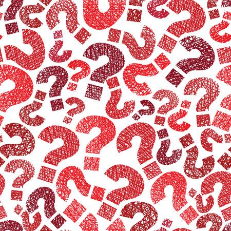 Illustration pour Queries marks seamless pattern - image libre de droit