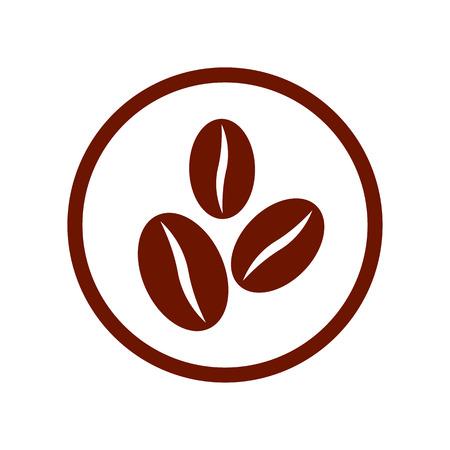 Ilustración de Coffee beans symbol. - Imagen libre de derechos