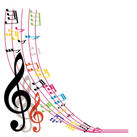 Illustration pour Music notes background, stylish musical theme composition, vector illustration. - image libre de droit