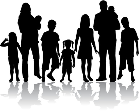 Photo for Profiles of large family - Royalty Free Image