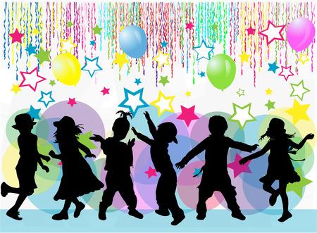 Ilustración de children silhouette - Imagen libre de derechos
