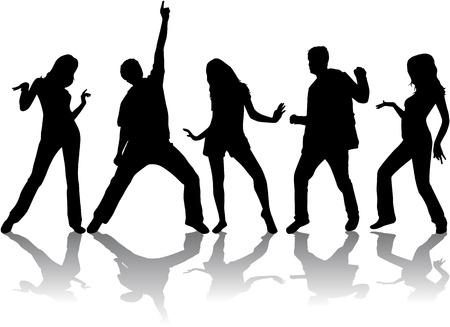 Photo pour Dancing silhouettes - image libre de droit