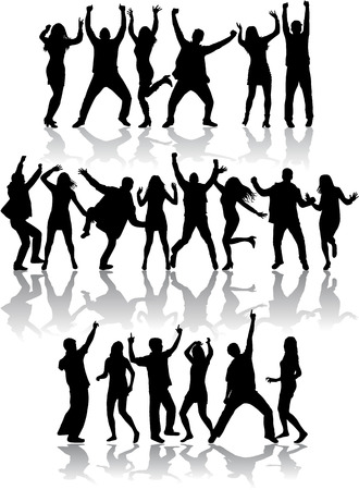 Ilustración de Dancing silhouettes - Imagen libre de derechos