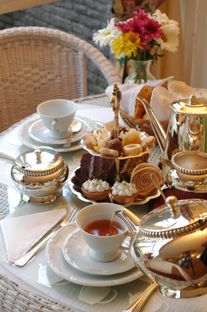 Foto de Typical English Afternoon Tea. - Imagen libre de derechos