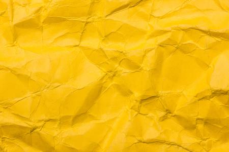 Photo pour Yellow crumpled paper background. - image libre de droit