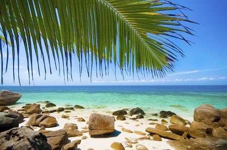 Foto de Summer beach view at Lang tengah island, Terengganu, Malaysia - Imagen libre de derechos