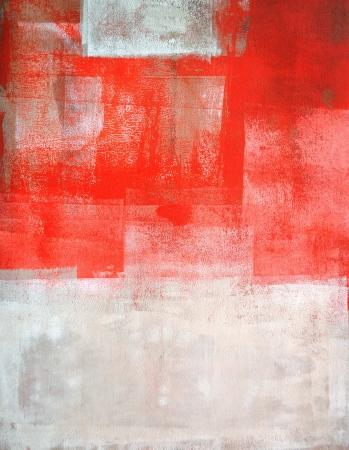 Photo pour Coral and Beige Abstract Art - image libre de droit